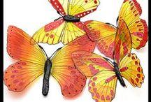 my craft - butterflies / Window decorations, wedding decorations, table decorations