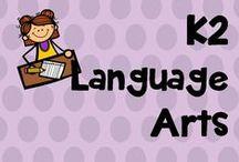 K 2 language arts / reading, writing activities