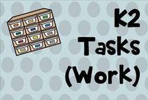 K 2 tasks / work tasks for ASD