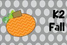 K 2 fall / fall activities sept oct nov / by Laura Sherman