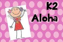 K 2 aloha / Hawaiian beach theme