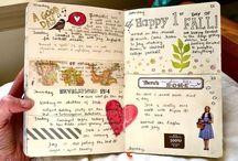Journaling / Ideas to create an art journal, smashbook, journaling ideas
