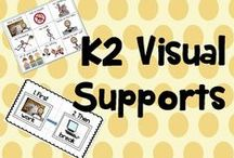 K 2 visuals / Visual schedules and supports for special education
