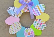 Paper crafting / Project tutorials using pretty papers - wreaths, garlands, paper flowers, handmade cards, books, and decoupage with scrapbook paper