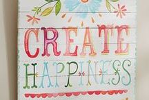 Painting Crafts / Craft and DIY Projects to paint. Add some color, use watercolors, acrylic painting projects, painted signs