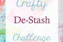 Crafty De-Stash Challenge / Got a lot of supplies in your craft stash? Time to use them up! These crafty tutorials will help you create a cute item and use up the supplies you have on hand.