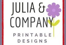 Julia & Company Printables on Etsy / Board for Julia & Company Printable Designs featuring motivational quotes, decorative word art, downloadable designs, wall art, posters, digital downloads, premade ebook covers for authors.