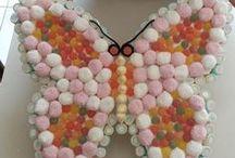 candy's cake / torte  e composizioni varie di marshmallow, caramelle gommose e chiupa chiups