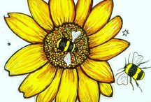 Birds Bees Botanicals / Birds, Bees, Botanical artwork and inspired design ideas