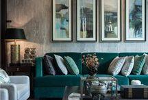 - T E A L - / Teal Inspiration: Sofas, Chairs, Colour Schemes