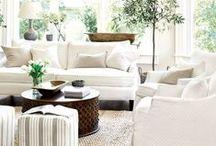 - W H I T E - / White Inspiration: Sofas, Chairs, Colour Schemes