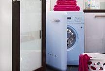 Dishwashing & Laundry / La gamma Smeg 50's style vanta anche una bella linea di lavatrici e lavastoviglie. / The Smeg retro range also boasts a beautiful line of washing machines and dishwashers.
