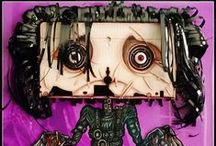 NMPM's Video Store / VHS wall sculptures by NMPM, a tribute to the characters and movies discovered through VHS rental.