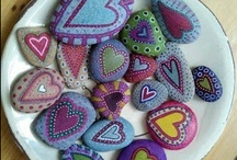 Painted rocks <3 / colorful ideas :)