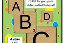 alphabet 2b : typo, kids, craft / by superlapinot