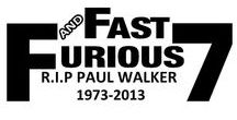 Stickers Paul Walker Fast and Furious 7 / Stickers Paul Walker Fast and Furious 7