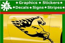 Flamboyant Animal Designs Stickers / Car Side Graphic Vinyl Stickers Design Wild Animals in Flames