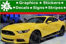 Ford Mustang Racing Car Stripes Stickers / Catalog Ford Mustang Racing Car Stripes Stickers from Craft Art Design UK Company Make Special Orders for Special Customers, Our Items IS MADE Only AT HIGH QUALITY AMERICAN VINYL Oracal Self Adhesive Gloss Vinyl Graphic Made in UK Easy to apply