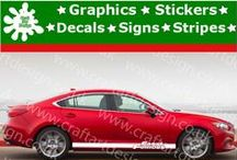 Mazda Racing Stripe Stickers Catalog Vinyl Graphic Car Design from Craft Art Design UK / Catalog Mazda Racing Stripes Stickers from Craft Art Design UK Company Make Special Orders for Special Customers, Our Items IS MADE Only AT HIGH QUALITY AMERICAN VINYL Oracal Graphics, Signs, Stickers and Many More...,if you have Idea, Picture or Project just let us Know, we make it and shiped Worldwide