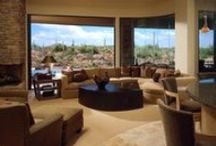 Desert Contemporary / Desert Contemporary, Desert, Contemporary, Interior Design, Construction Remodel, Remodel, Home Decor, Living Room, Family Room, Kitchen, Kitchen Hood, Stone Fireplace, Stone, Dining Room, Furniture, Luxury Home, Luxury Decor, Luxury
