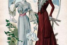 .1800-1950 fashion.