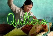Quilters / Pictures of women in Vietnam and Cambodia quilting for Mekong+