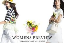 WOMENS PREVIEW | TOMORROWLAND 2014 SPRING / http://www.tomorrowland.co.jp/catalogue/2014spring_womens/