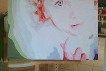 Peintures & Canvas / Acryliques, pastels, bois, carton....