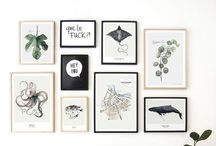 P H O T O  C O L L A G E S / Creative and inspiring compositions of pictures, posters and prints .
