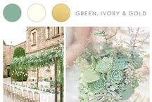 Wedding Inspiration: Green, Ivory & Gold / Three natural, beautiful tones to compliment any wedding venue.