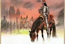 Guerra en la antigüedad y época contemporánea . Ilustraciones