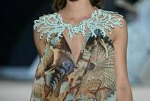 Lagoona / #haute couture #sea inspiration #fish #shells #pearls #nets #blue