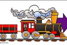 Thema trein kleuters / Preschool theme trains / Train thème maternelle / Thema voor kleuters trein, station, conducteur / Preschool theme trains / Train thème maternelle, bricolage