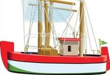 Thema visserij kleuters / Fishery theme preschool / Thema visserij kleuters lessen en knutsels / Fishery theme preschool lessons and crafts