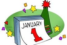 Thema oud en nieuw jaar kleuters / New Year theme preschool / Thema oud en nieuw jaar kleuters, lessen en knutselen / New Year theme preschool, lessons and crafts