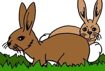 Thema konijnen kleuters / Rabbit theme preschool / Thema konijnen kleuters, lessen en knutselen / Rabbit theme preschool, lessons and crafts