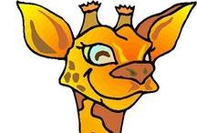 Thema giraf kleuters / Giraffe theme preschool / Girafe maternelle / Thema giraf kleuters, lessen en knutselen / Giraffe theme preschool, lessons and crafts / Girafe maternelle, bricolage, les leçon