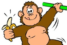 Thema apen kleuters / Monkey theme preschool / Singe thème maternelle / Thema apen kleuters, lessen en knutselen / Monkey theme preschool, lessons and crafts / Singe thème maternelle, bricolage et leçons