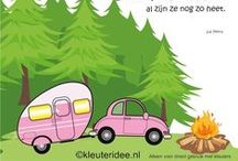 Thema camping kleuters / Camping theme preschool / Thema camping kleuters, lessen en knutslen / Camping theme preschool, lessons and crafts