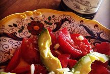 Insalate / Salads of all varieties that feature extra virgin olive oil for flavor and health.