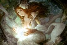 Fantasy art / Women, Anime, Monster, Fairy, Angel, Goth, Elf, Pixie, Devil,Goth, Pagan's Gods and Goddesses