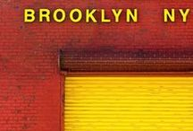 Brooklyn / Inspiration for my urban, contemporary Brooklyn city map tapestry kit