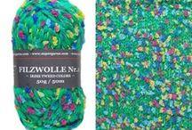 FILZWOLLE - SUPERGARNE Wollversand / Sie finden in unserem Online Wollshop traumhafte Filzwolle in verschiedenen Qualitäten und vielen wunderschönen Farben!