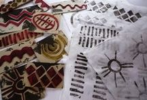 Print, Masks & Stamps / Printing ideas, masks and stencils, stamps