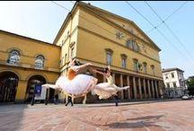 #ParmaDanza / Parma? Danza! Sul palco del Regio per un mese intero e al Parco Ducale, in Strada Garibaldi, al Battistero. In ogni angolo, in ogni scorcio, i passi e l'energia di una città viva. Danzate a Parma e inviateci le vostre foto su Facebook o Twitter.