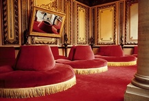 """The intriguing red """"Puff"""" / I once lived in a house with a red circular seating couch in the center of the living room. Now I search out other ones because they simply have pizzazz. The seating unit was nicknamed """"The Puff"""". If The Puff could talk, oh the stories it could tell."""