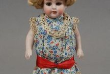 Antique Vintage Dolls and Miniature Doll Related Items