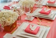 Tablescapes / Tablescapes and decor, place settings. Event planners in Rhode Island, social, weddings, and corporate events and parties.