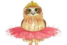 Owl Art / Owl Art / by Krista Irene