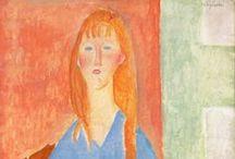 Amedeo Modigliani / Amedeo Clemente Modigliani, noto anche con i soprannomi di Modì e Dedo (Livorno, 12 luglio 1884 – Parigi, 24 gennaio 1920), è stato un pittore e scultore italiano, celebre per i suoi ritratti femminili caratterizzati da volti stilizzati e colli affusolati. Affetto da tubercolosi, morì all'età di trentacinque anni. È sepolto nel cimitero parigino Père Lachaise.